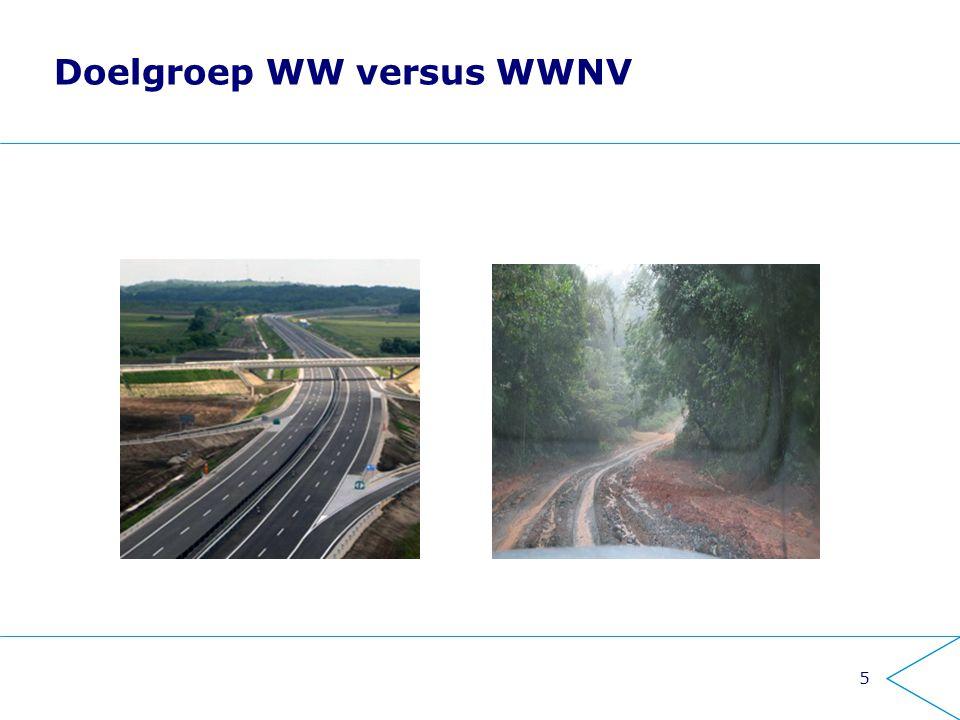Doelgroep WW versus WWNV