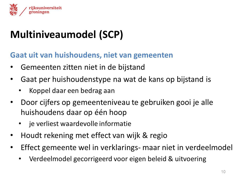 Multiniveaumodel (SCP)