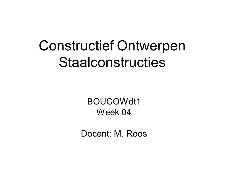Constructief Ontwerpen Staalconstructies