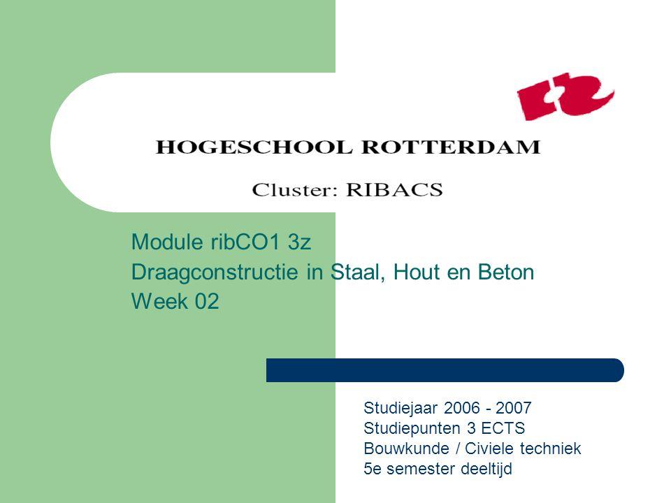 Module ribCO1 3z Draagconstructie in Staal, Hout en Beton Week 02