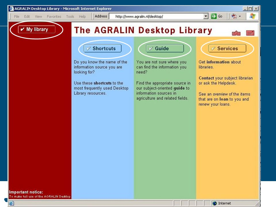 1999 – AGRALIN Desktop Library