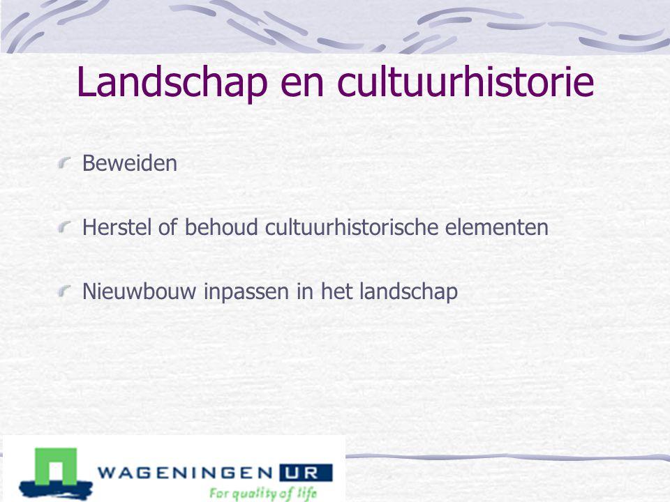Landschap en cultuurhistorie