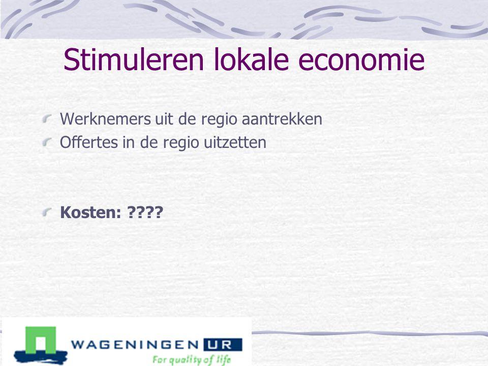 Stimuleren lokale economie