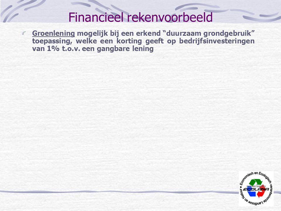 Financieel rekenvoorbeeld