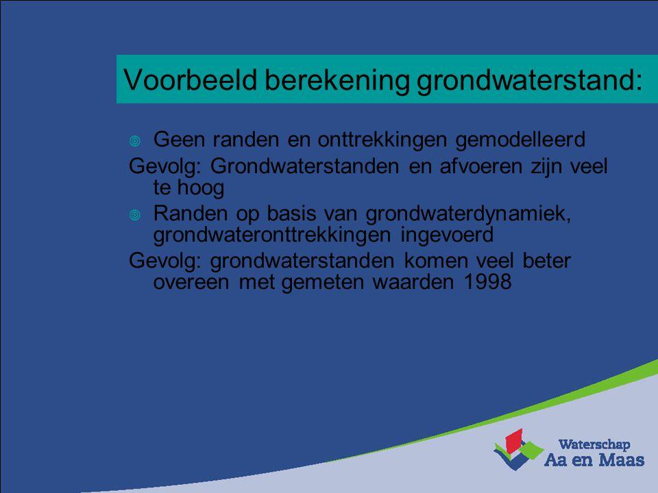 Voorbeeld berekening grondwaterstand: