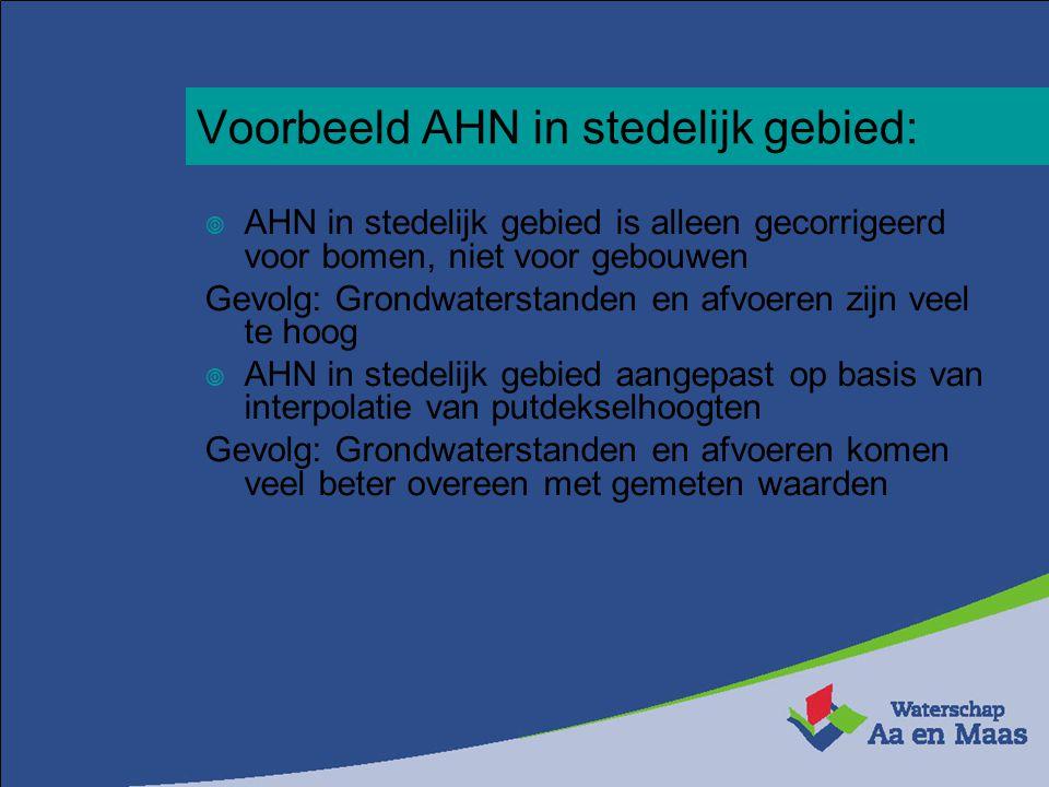 Voorbeeld AHN in stedelijk gebied: