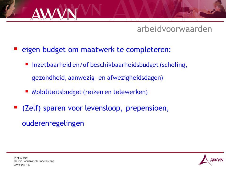 arbeidvoorwaarden eigen budget om maatwerk te completeren: