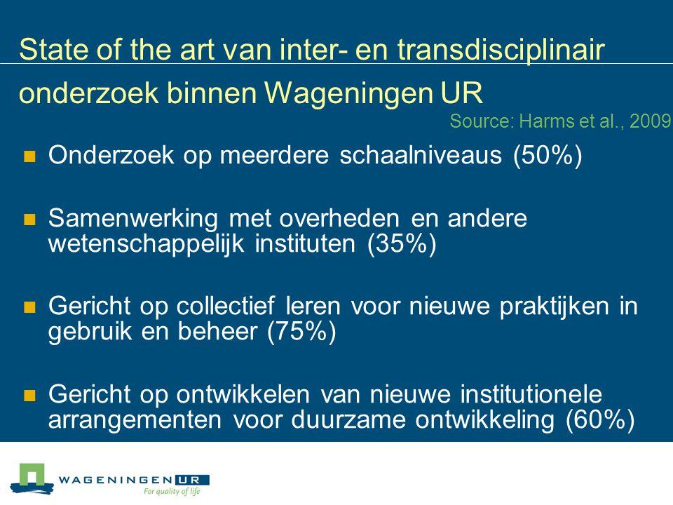 State of the art van inter- en transdisciplinair onderzoek binnen Wageningen UR