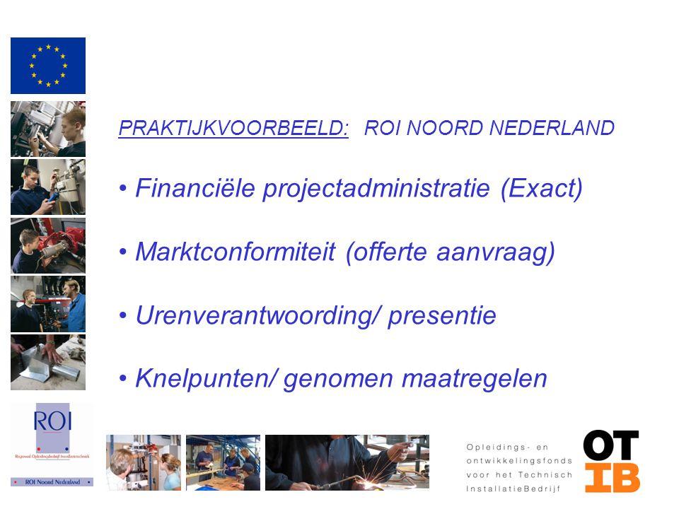 Financiële projectadministratie (Exact)