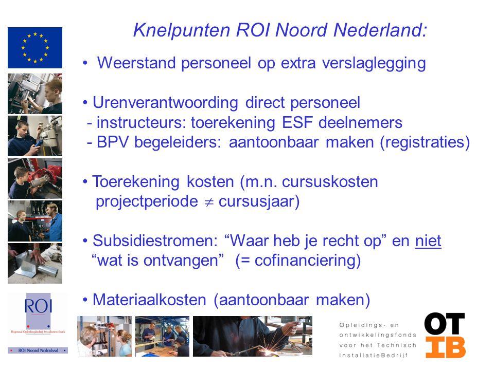 Knelpunten ROI Noord Nederland: