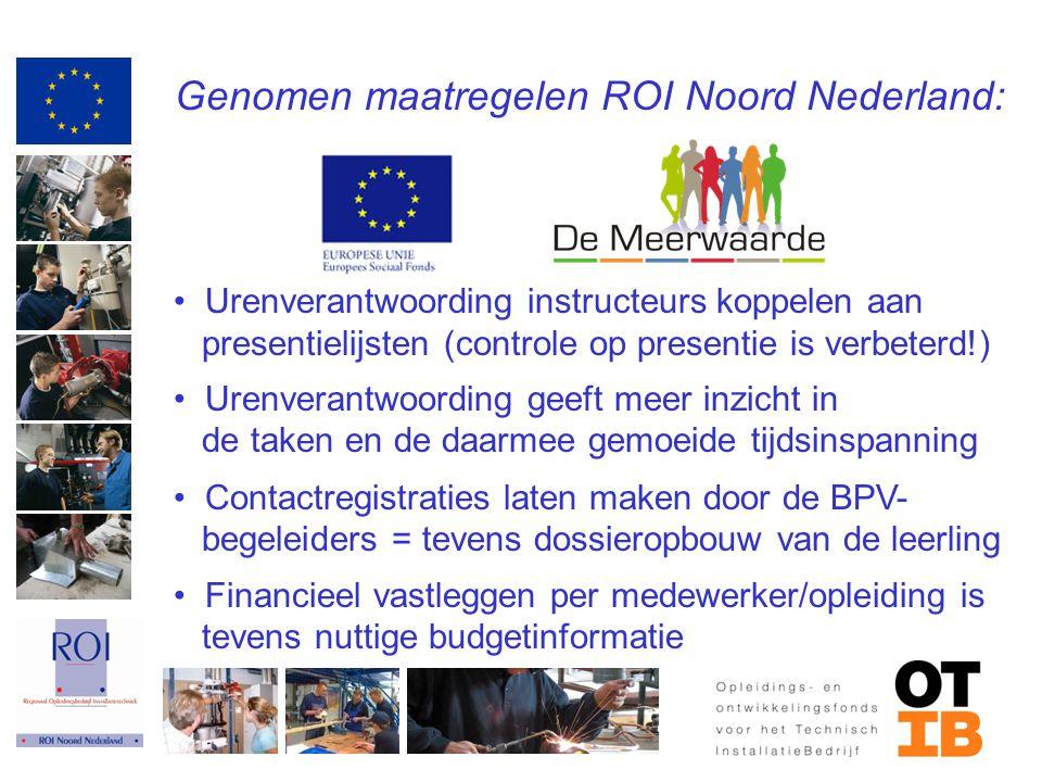 Genomen maatregelen ROI Noord Nederland: