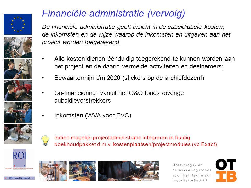 Financiële administratie (vervolg)