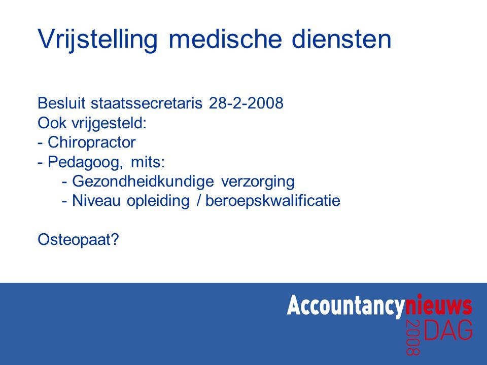 Vrijstelling medische diensten