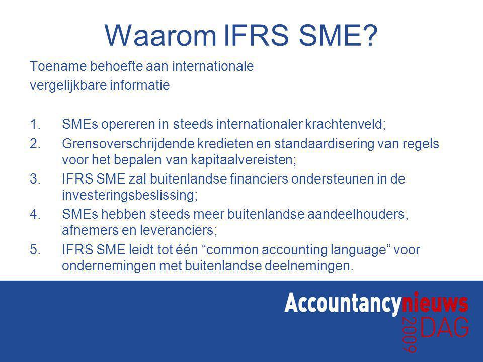 Waarom IFRS SME Toename behoefte aan internationale