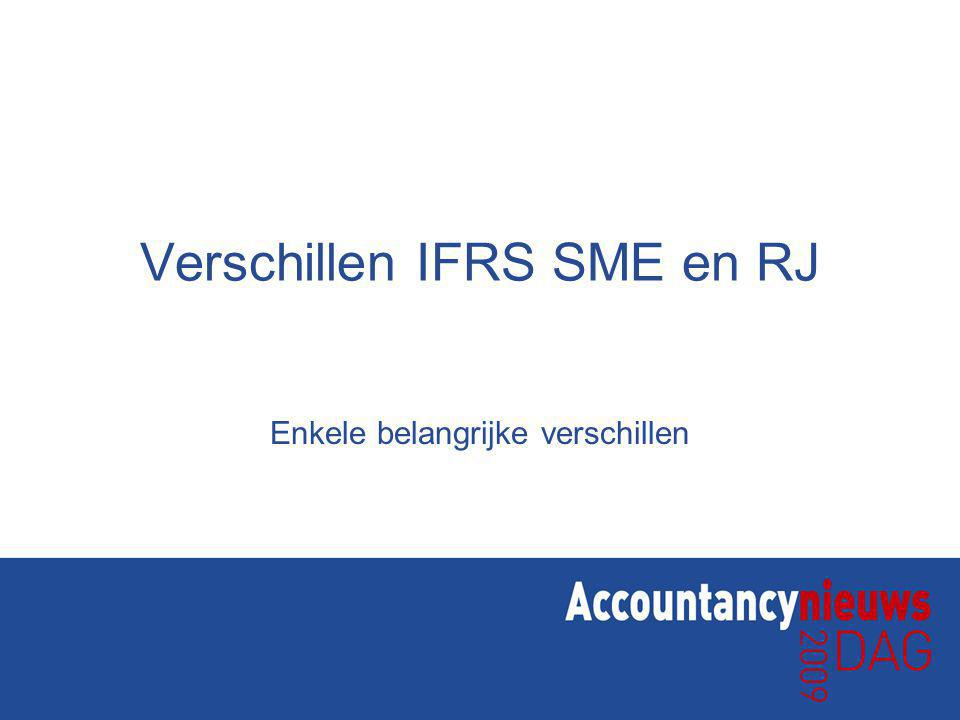 Verschillen IFRS SME en RJ