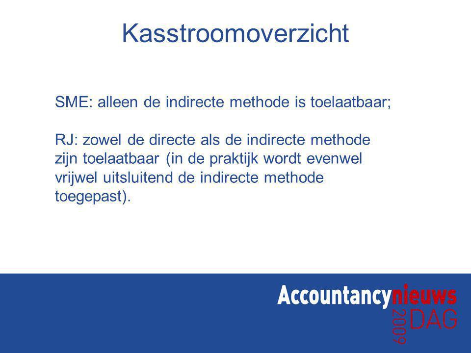 Kasstroomoverzicht SME: alleen de indirecte methode is toelaatbaar;
