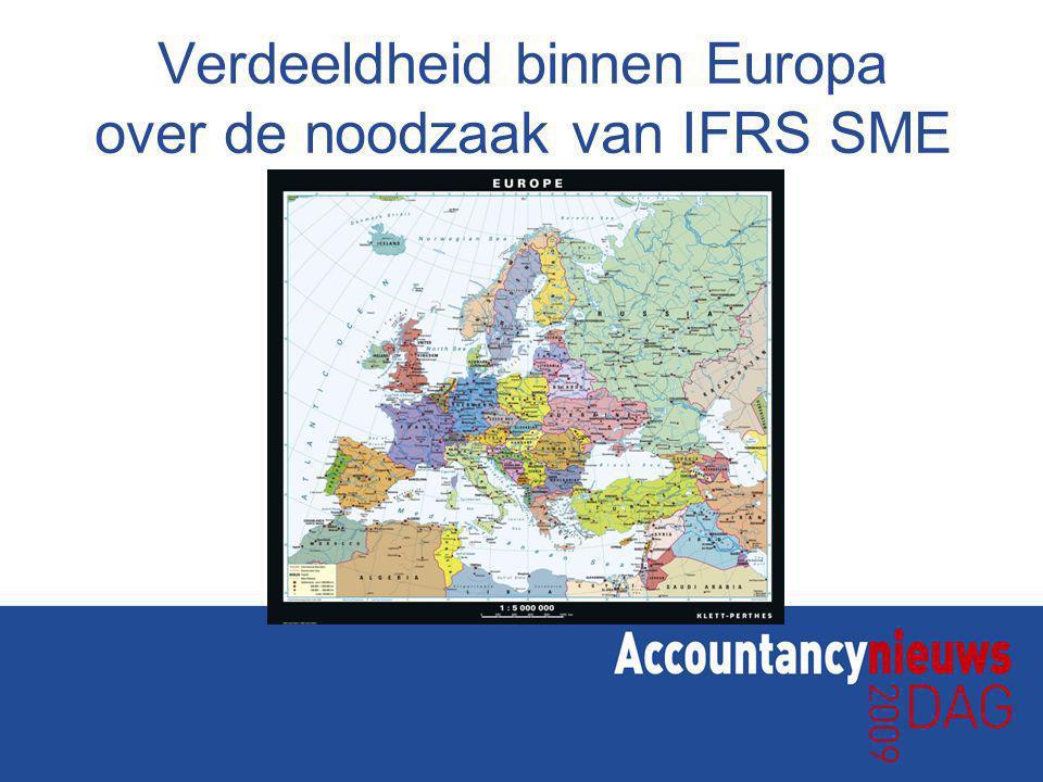 Verdeeldheid binnen Europa over de noodzaak van IFRS SME