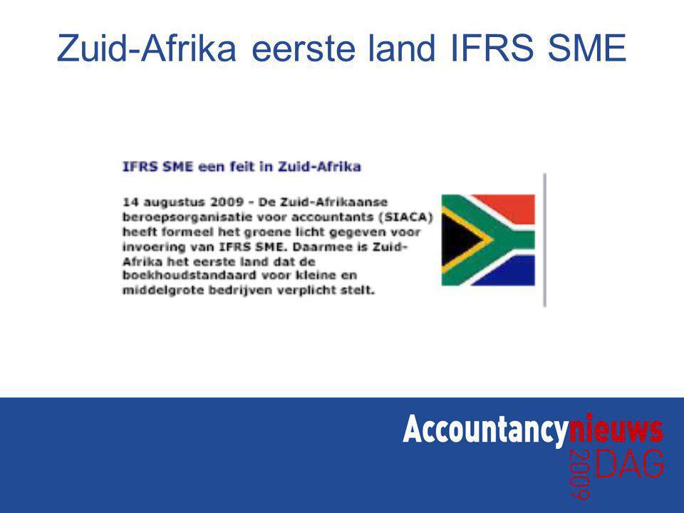 Zuid-Afrika eerste land IFRS SME