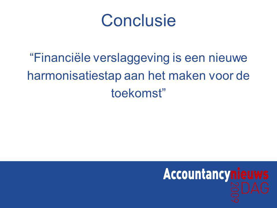 Conclusie Financiële verslaggeving is een nieuwe