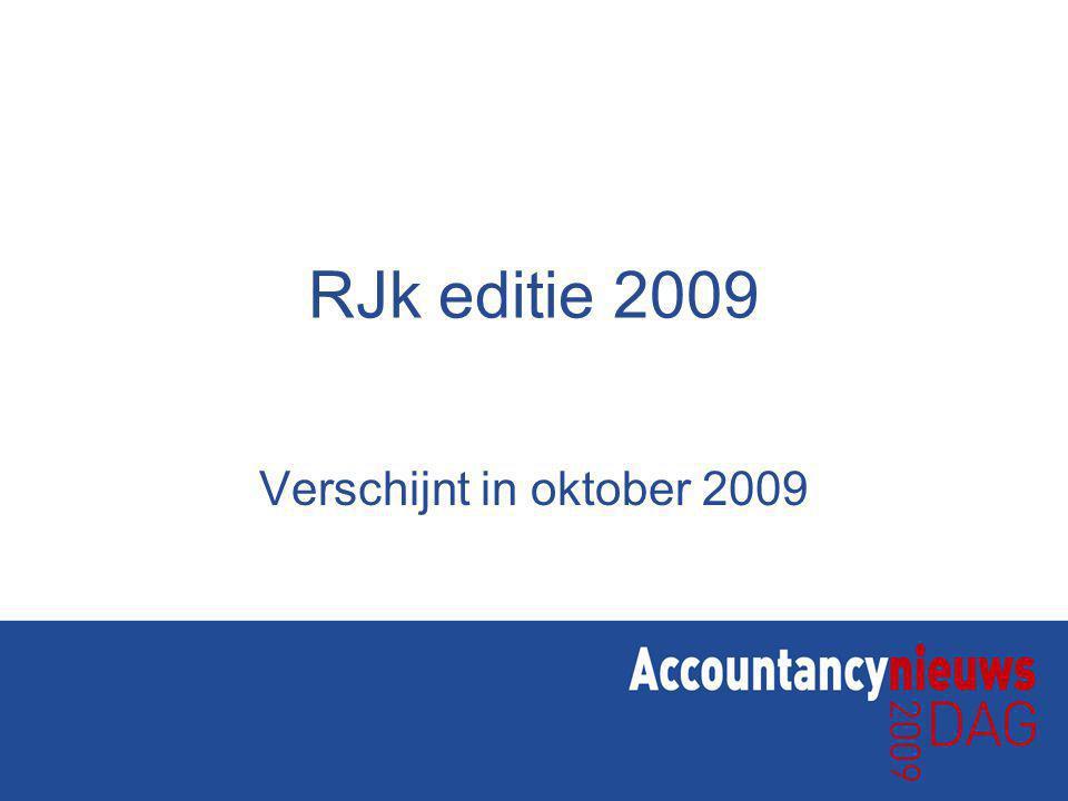 RJk editie 2009 Verschijnt in oktober 2009