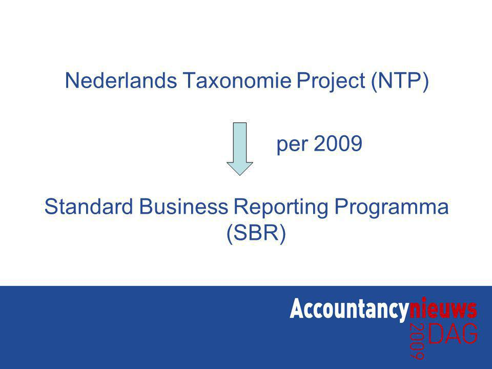 Nederlands Taxonomie Project (NTP) per 2009