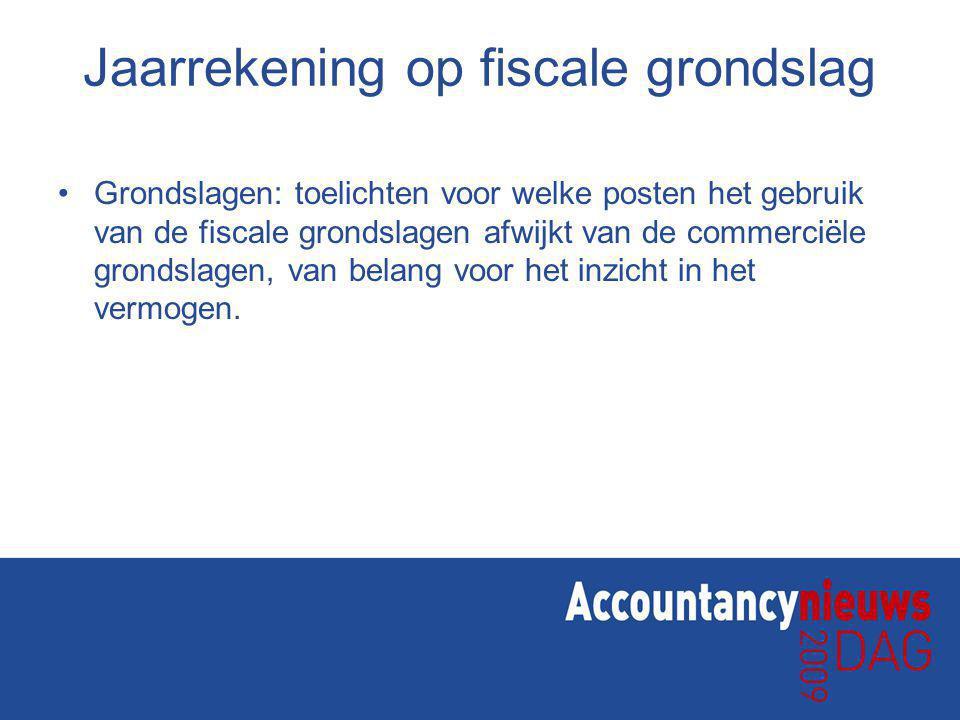 Jaarrekening op fiscale grondslag