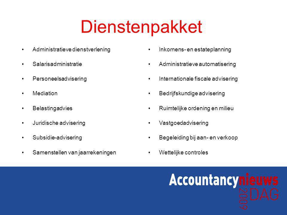 Dienstenpakket Administratieve dienstverlening Salarisadministratie