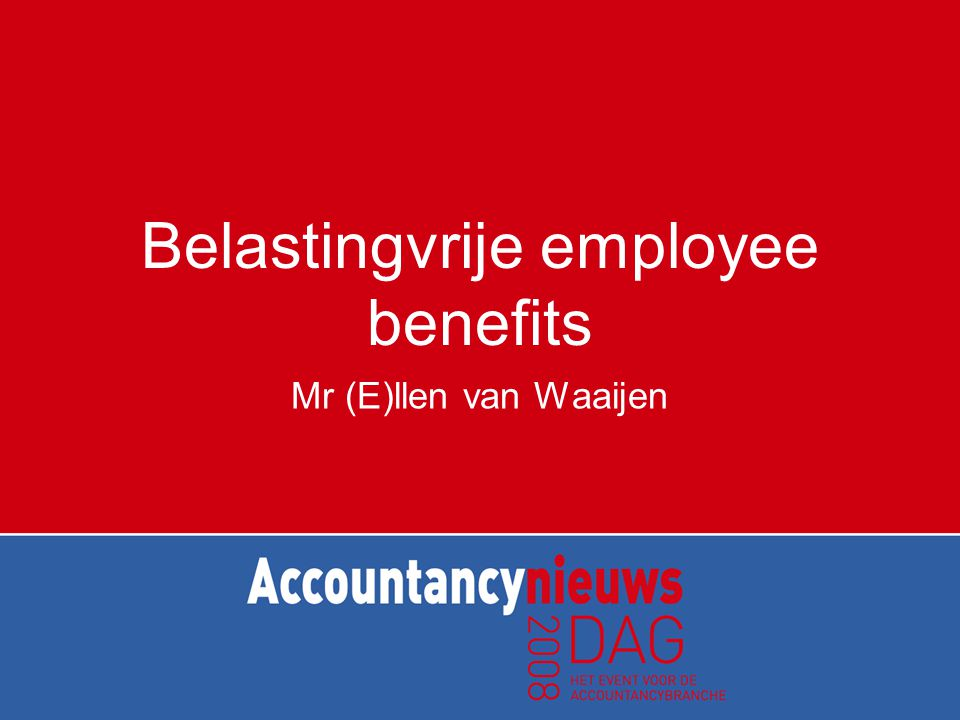 Belastingvrije employee benefits