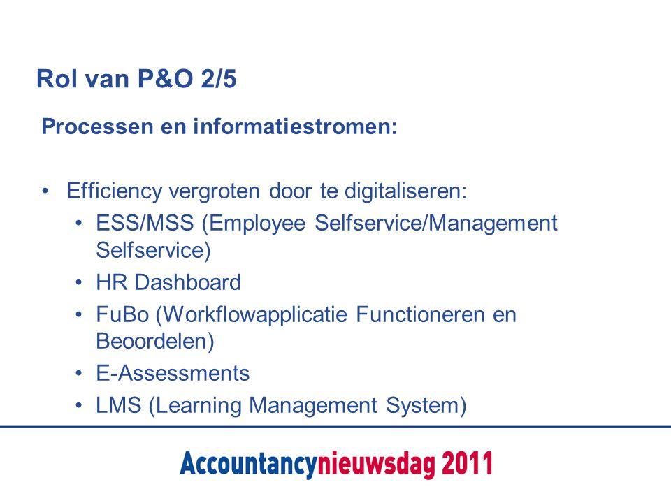 Rol van P&O 2/5 Processen en informatiestromen: