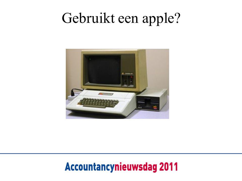 Gebruikt een apple