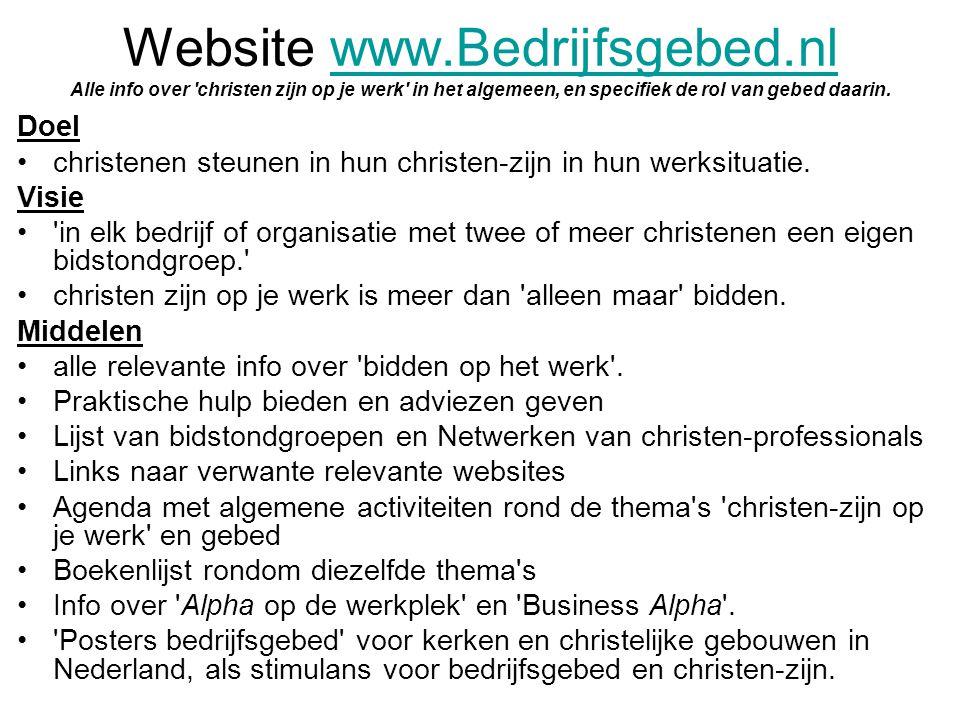 Website www. Bedrijfsgebed