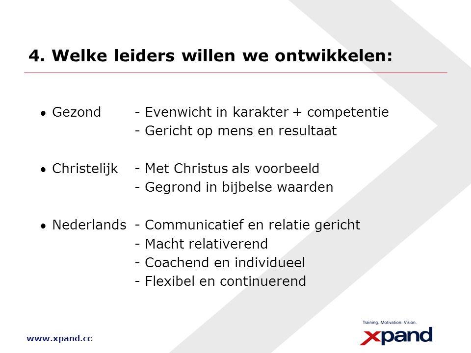 4. Welke leiders willen we ontwikkelen: