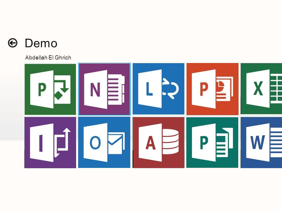 Demo Abdellah El Ghrich Grid landing Microsoft Office
