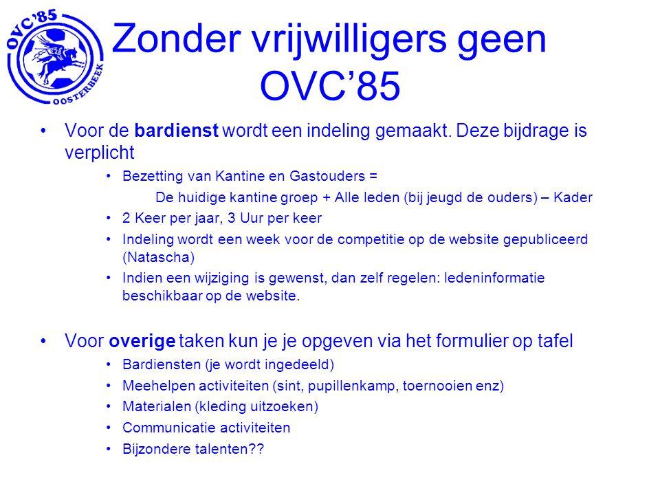 Zonder vrijwilligers geen OVC'85