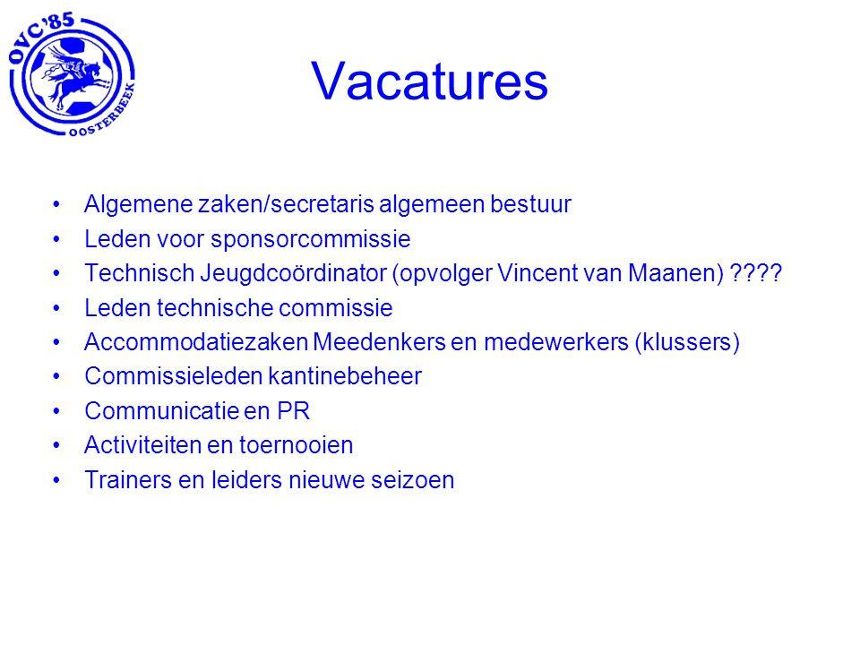 Vacatures Algemene zaken/secretaris algemeen bestuur