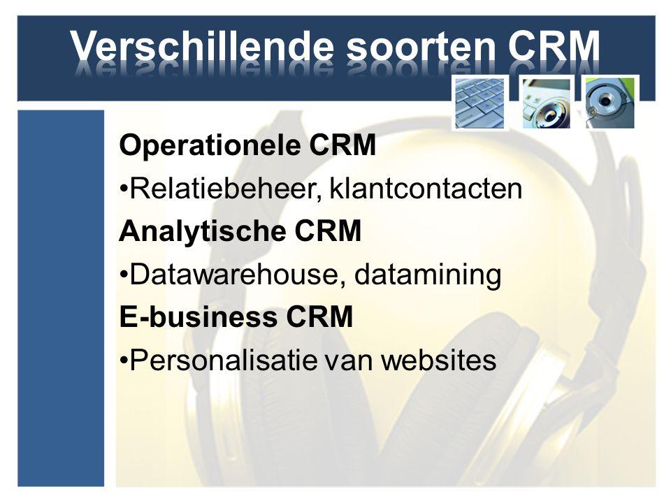 Verschillende soorten CRM