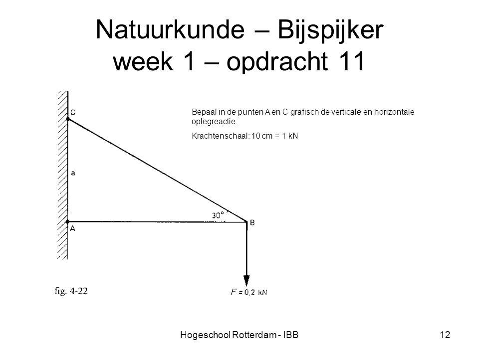 Natuurkunde – Bijspijker week 1 – opdracht 11