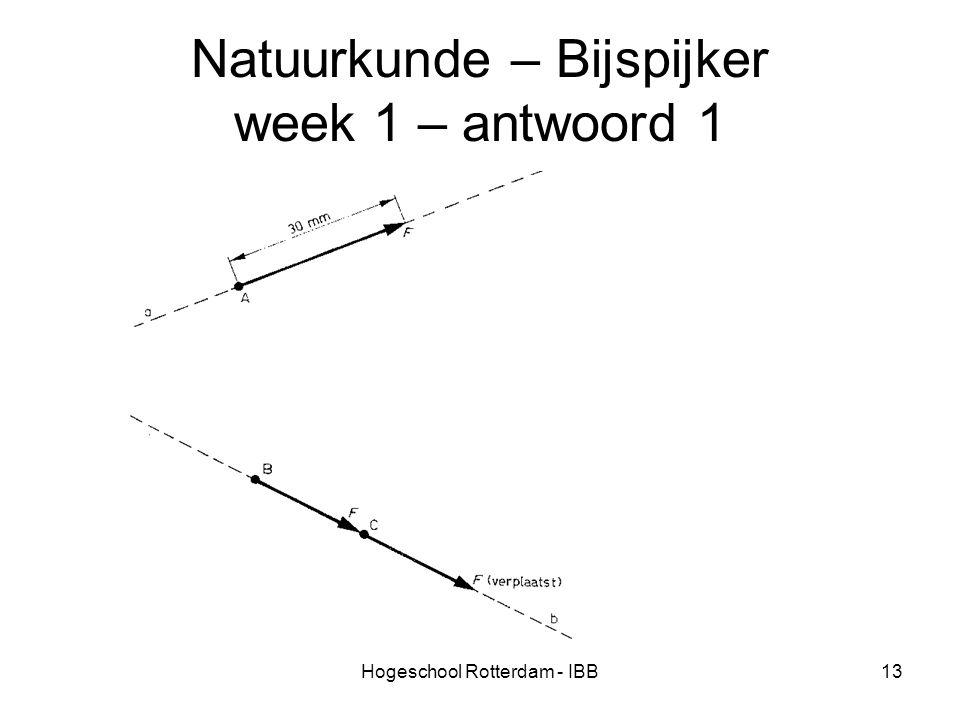 Natuurkunde – Bijspijker week 1 – antwoord 1