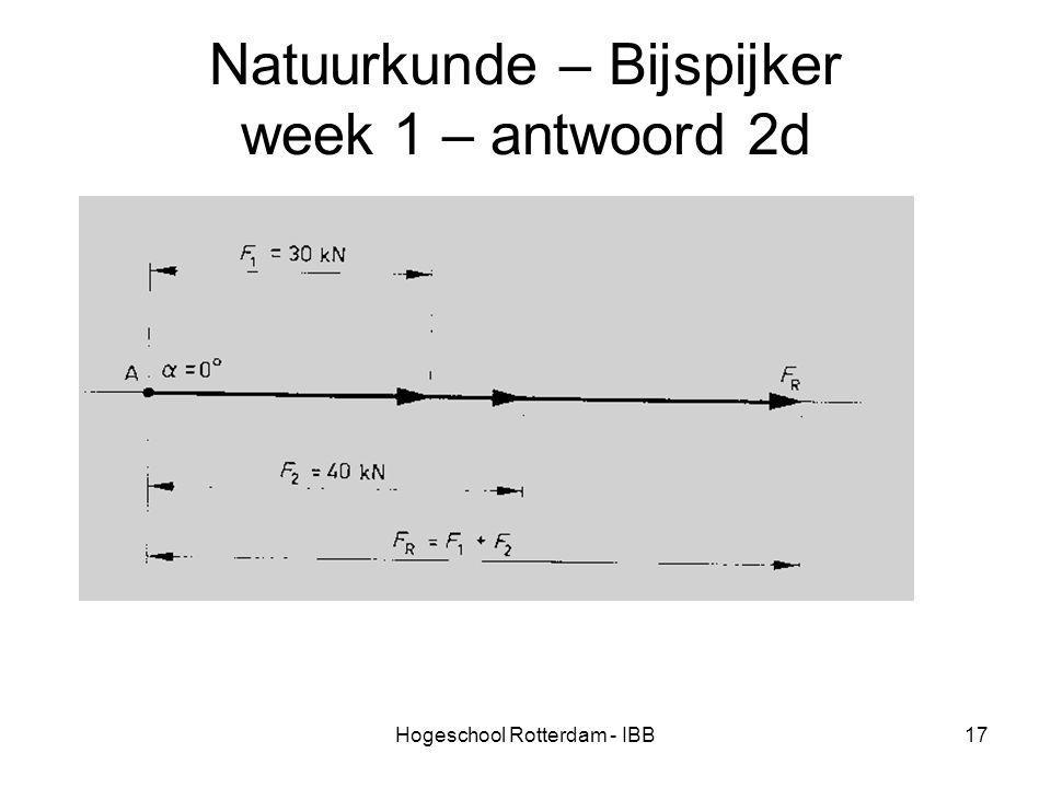 Natuurkunde – Bijspijker week 1 – antwoord 2d
