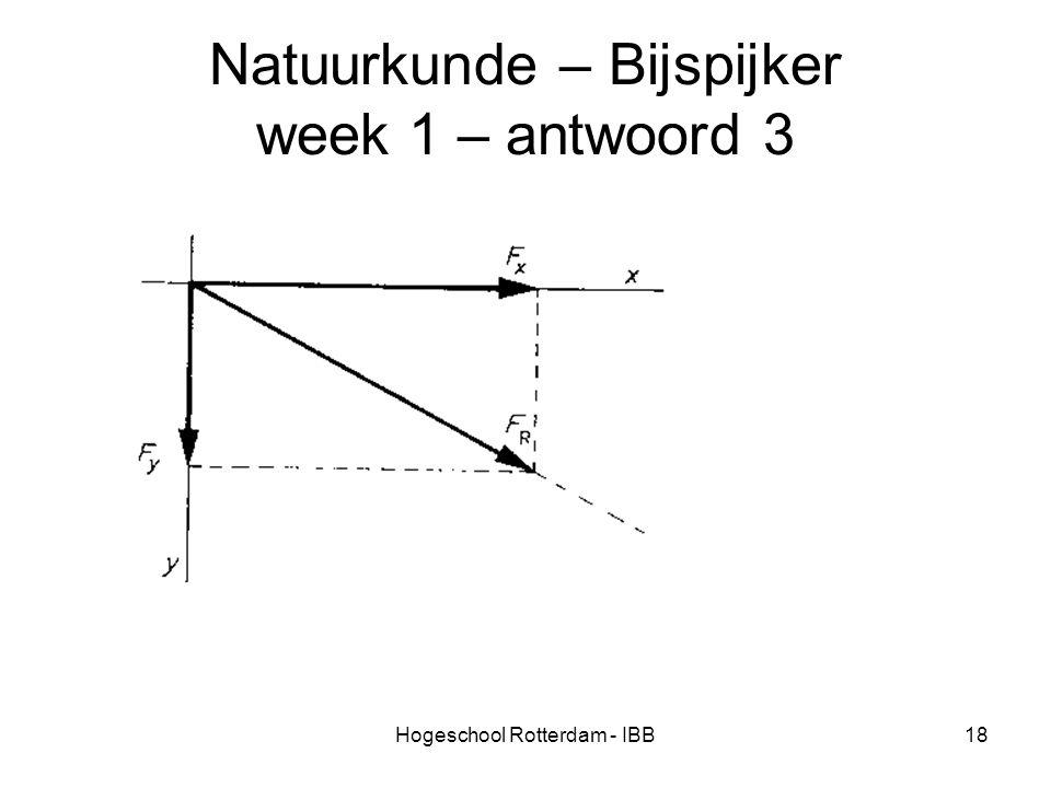 Natuurkunde – Bijspijker week 1 – antwoord 3
