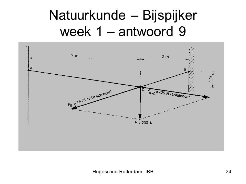 Natuurkunde – Bijspijker week 1 – antwoord 9