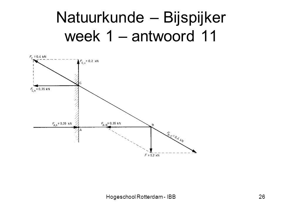 Natuurkunde – Bijspijker week 1 – antwoord 11