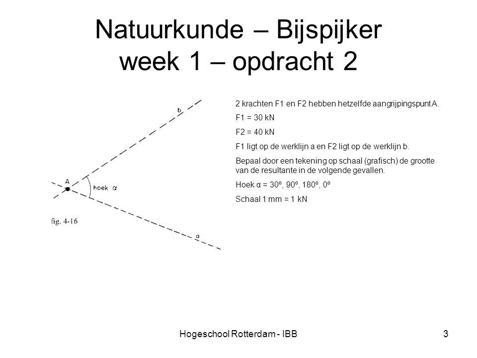 Natuurkunde – Bijspijker week 1 – opdracht 2