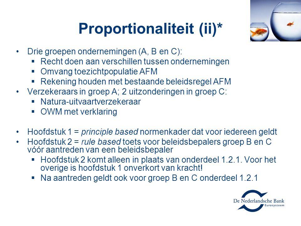 Proportionaliteit (ii)*