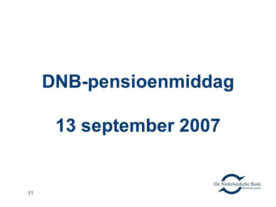 DNB-pensioenmiddag 13 september 2007