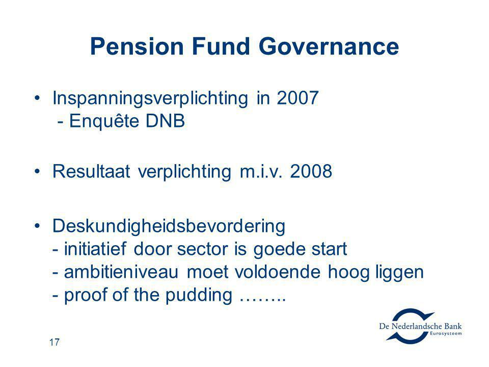 Pension Fund Governance