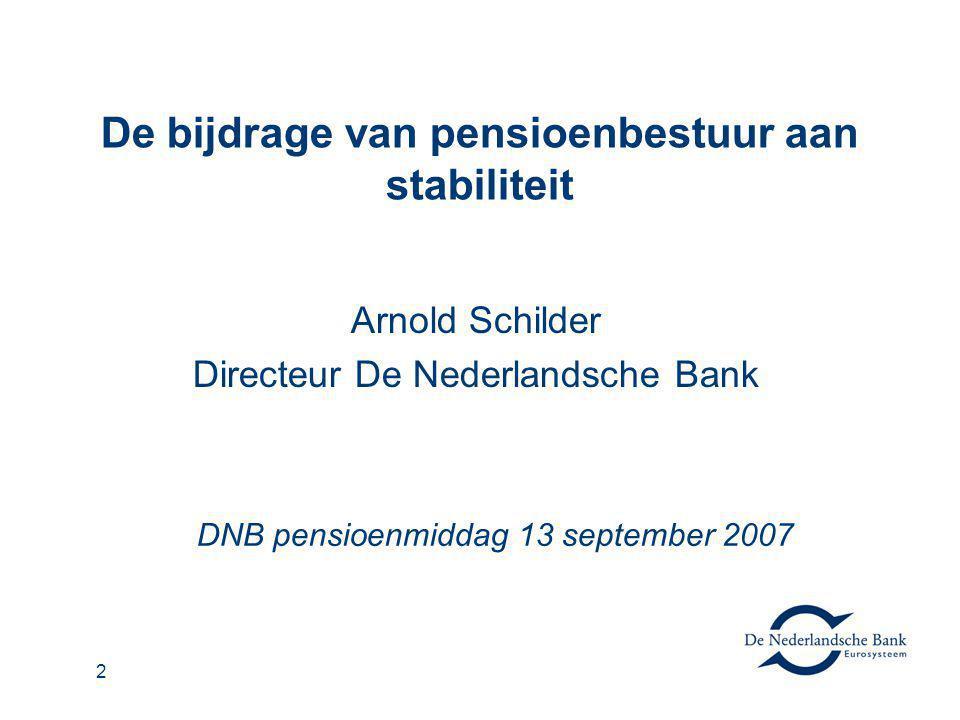 De bijdrage van pensioenbestuur aan stabiliteit