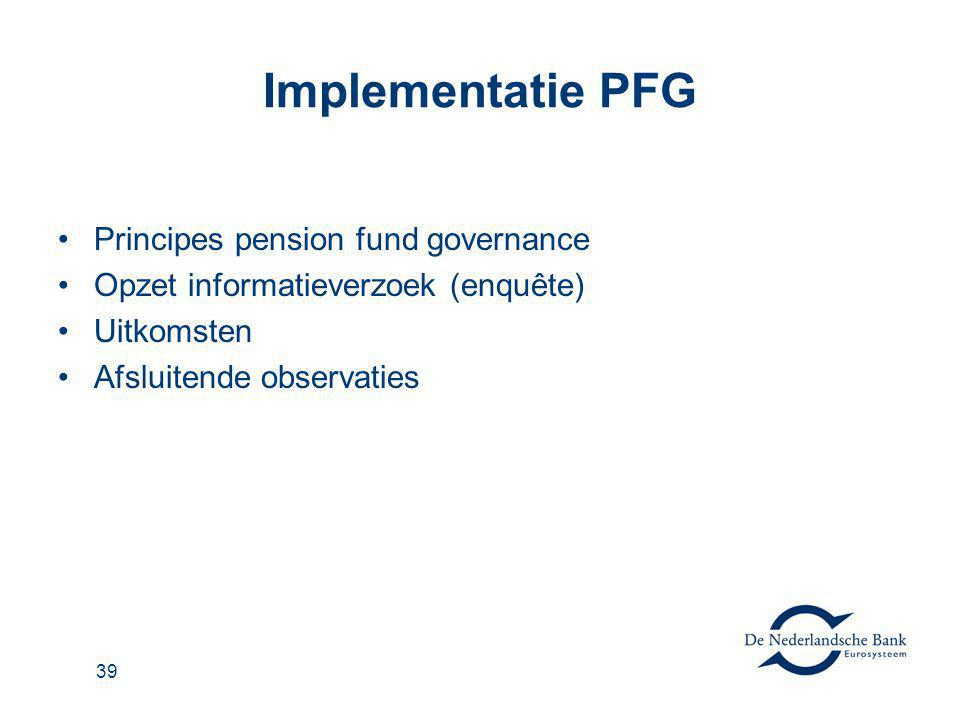 Implementatie PFG Principes pension fund governance