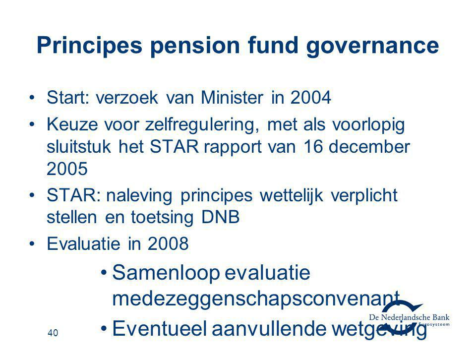 Principes pension fund governance