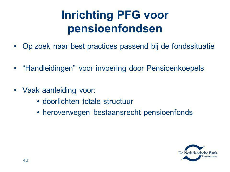 Inrichting PFG voor pensioenfondsen